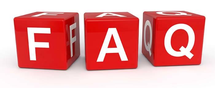 FAQ-symbol bild.